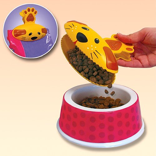 - Kibble Clip N Scoop - Pet Food Bag Clip & Scooper In 1
