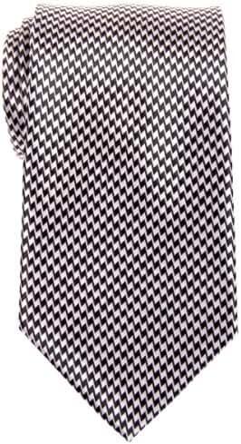 Retreez Two-Color Zig Zag Striped Woven Microfiber Men's Tie - Various Colors