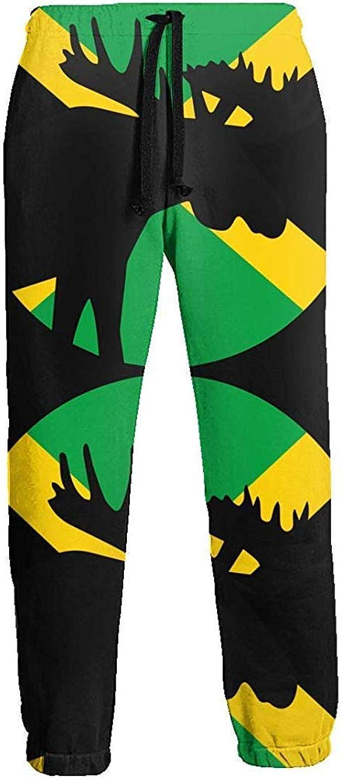 Jamaica Flag Moose Moon Pantalones de chándal Largos para Hombre ...