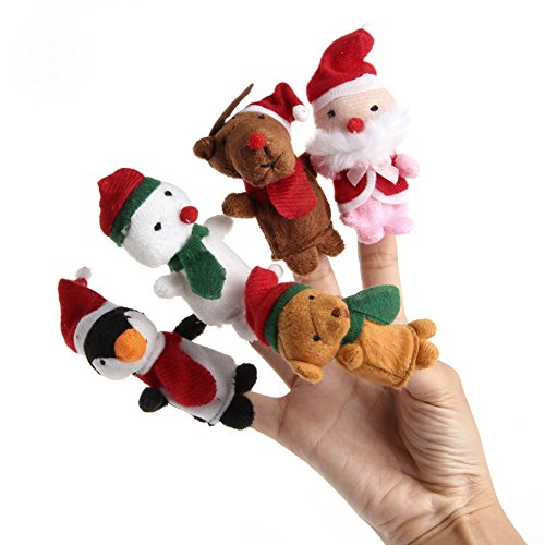 Usdepant 5Pcs Cute Finger Puppets Kids Educational Hand Toy Story Christmas Toy Children (Puppet Finger Otter)
