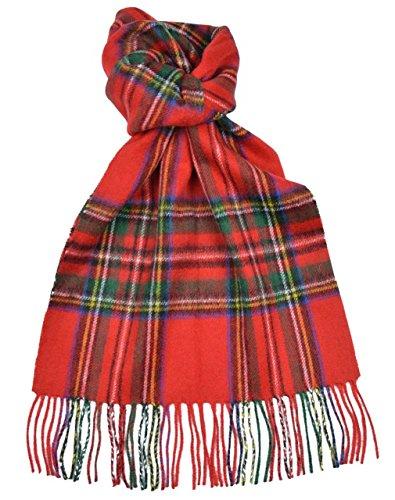 Lambswool Scottish Stewart Royal Modern Tartan Clan Scarf ()