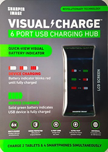 sharper-image-visual-charge-6-port-usb-charging-hub