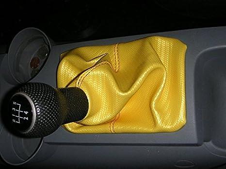 Sierra Leather-Black Thread RedlineGoods Shift Boot Compatible with Volkswagen New Beetle 1999-10