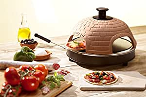"""Pizzarette – """"The World's Funnest Pizza Oven"""" – 4 Person Model - Countertop Pizza Oven – Europe's Best-Selling Tabletop Mini Pizza Oven Now Available In The USA – Dual Heating Elements"""