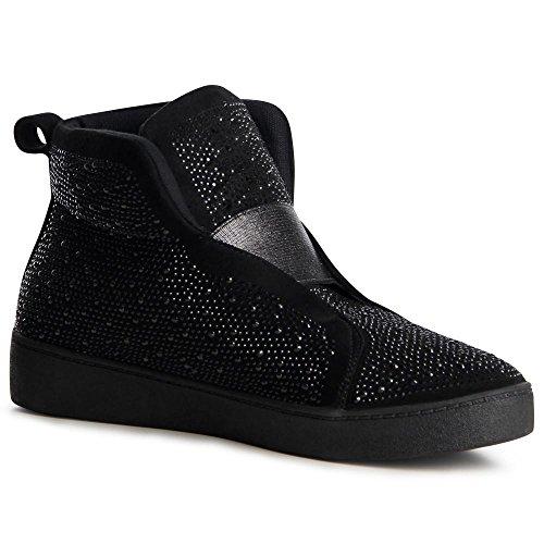 Noir Sport Baskets Topschuhe24 Chaussures De Femmes qwvxZtX4
