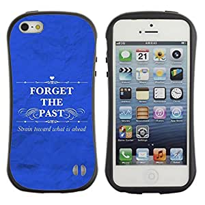 Paccase / Suave TPU GEL Caso Carcasa de Protección Funda para - BIBLE Forget The Past - Apple Iphone 5 / 5S