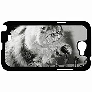 New Style Customized Back For Case HTC One M8 Cover Hardshell Case, Back Cover Design Chess Cat Personalized Unique For Case HTC One M8 Cover