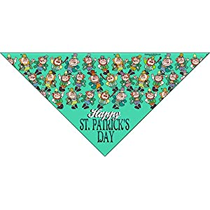 6 pc Holiday Dog Bandana for Small Dogs - Set of 6 - Christmas, Halloween, Thanksgiving, Valentine's Day, St. Patricks Day, Patriotic