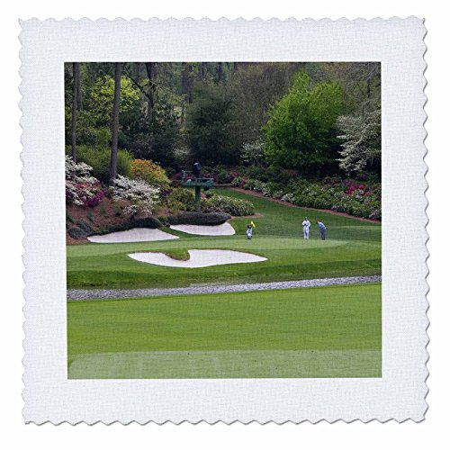 (3dRose qs_48684_1 Augustas Amen Corner Golf Course Where Dreams Are Made and Lost Quilt Square, 10 by 10-Inch)