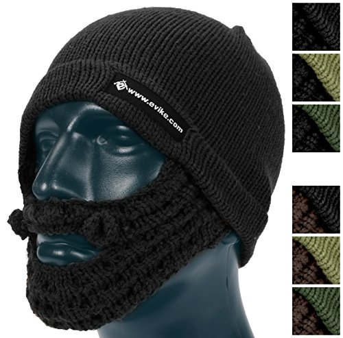 Evike Tactical Beard Beanie - Black / Black - - Beards Round Faces For