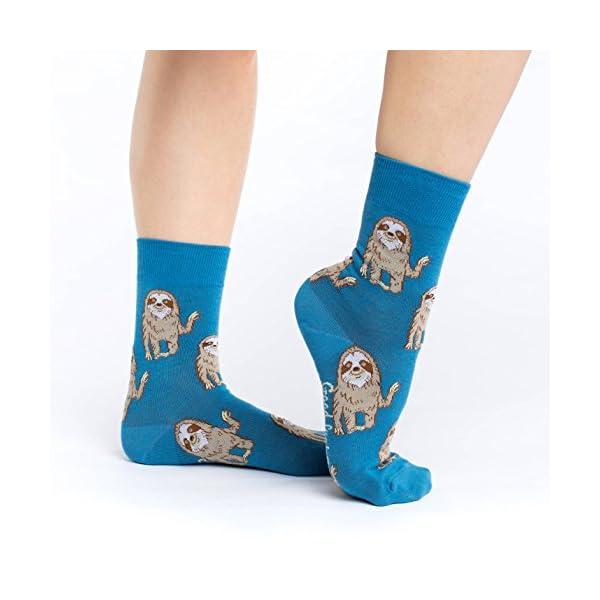 Good Luck Sock Women'S Hello Sloth Socks - Blue, Adult Shoe Size 5-9 -