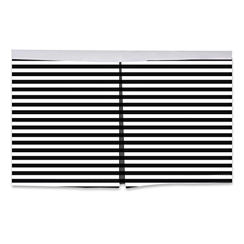 Bacati Pin Stripes Crib/Toddler Bed Skirt, White/Black, 13