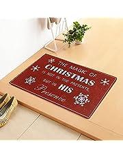 OHLADY Świąteczne wycieraczki do drzwi wejściowych zabawna wycieraczka powitalna, koce do sypialni mata podłogowa, maty do drzwi dekoracja zewnętrzna, pogrubione maty kuchenne, łazienka antypoślizgowa mata, Boże Narodzenie dekoracyjny dywan na zewnątrz