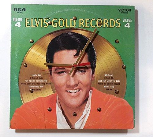 Elvis Presley Gold Records Vol 4 Wall Clock
