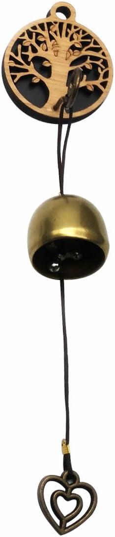 GARASANI Zinc, Steel Bell - Door Bell, Doorbell for Decoration, Front Door, Interior, Exterior Decor, Gold (Tree)