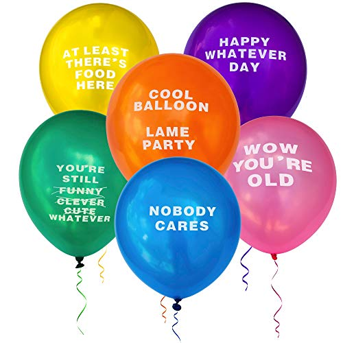 Kipi Toys Funny Party Abusive Balloons 24 Pcs Jumbo Pack Birthday Humor Fun Prank Gag Balloon Joke Special Decoration Gift Present for Old Adults College