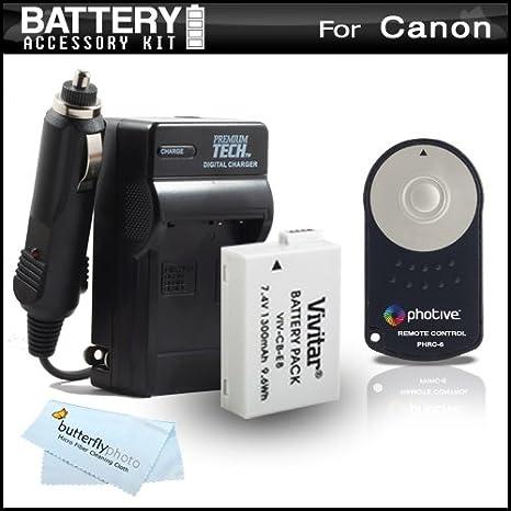 Recargable y Cargador + Kit de disparador inalámbrico para Canon ...