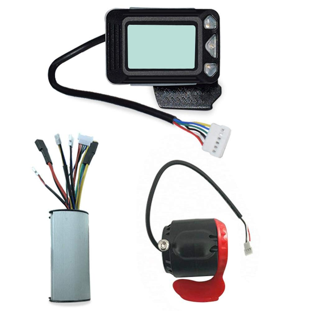 Flickering Ebike Controller Brake LCD Display Suitable for Electric Bicycles,Cars and Scooters,24V 250W Carbon Fiber Electric Scooter Controller Brushless Motor Electric Bicycle Accessory