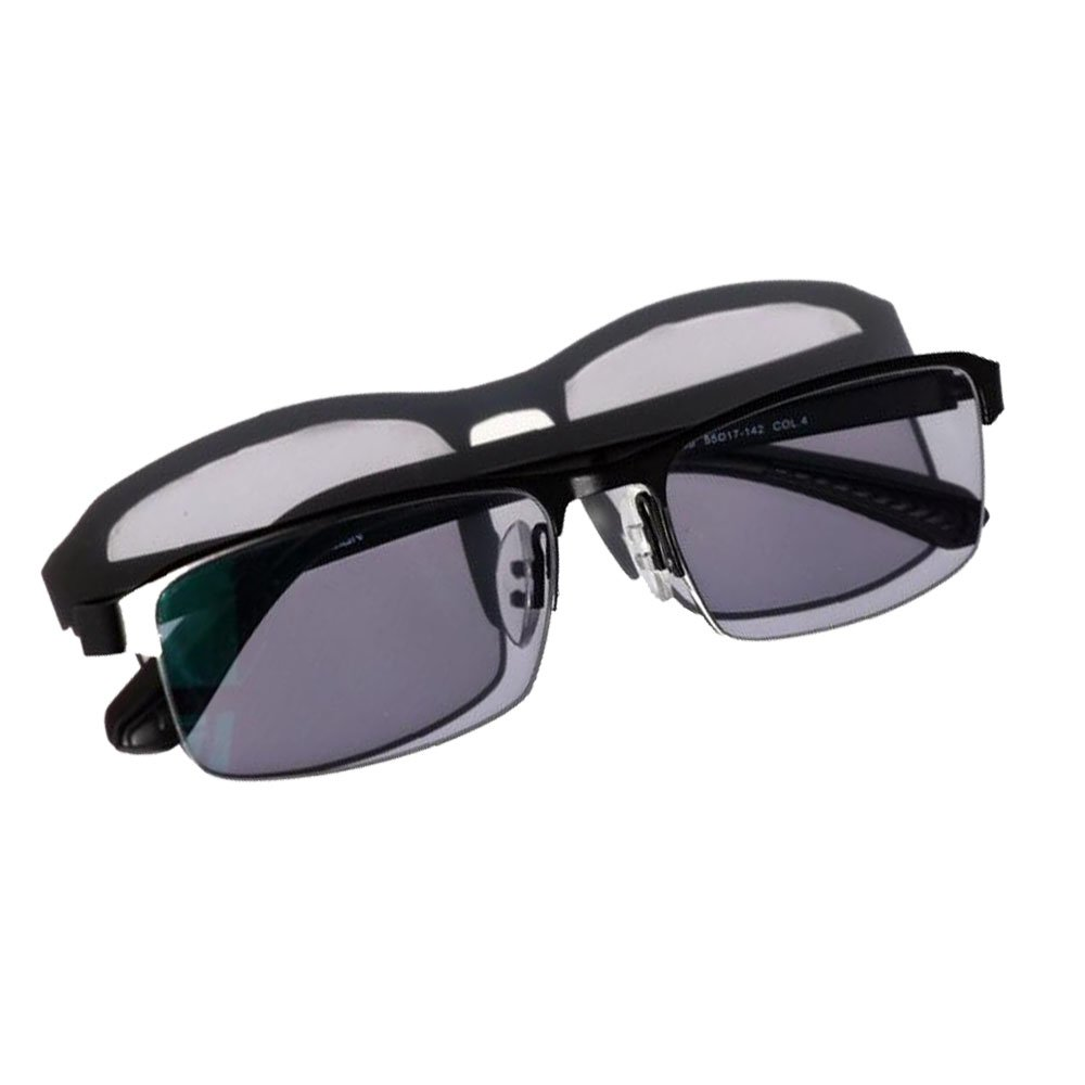 WEARKAPER Transition Sun Readers Photochromic Reading Glasses Men Outdoor Presbyopia Glasses (2.0X, Black)