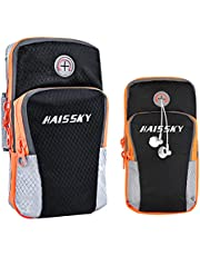 """Cell Phone Armband Pouch Running Armband for iPhone 12 11 Pro XS max XR X 8 7 6 Plus Samsung S20 S10 S9 S8 up to 6.5"""", Running Arm Bag Gym Phone Holder Sports Arm Bands for Exercise Fitness Workouts"""