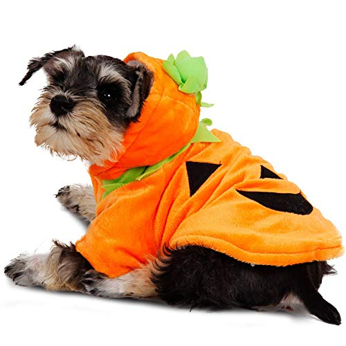 Dog Halloween Contests 2019 (Cuteboom Dog Pumpkin Costume Pet Halloween Party Clothes Puppy Christmas Hoodie for Small to Medium Dogs)