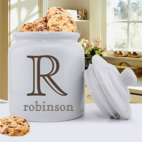 Personalized Family Name Ceramic Cookie Jar - Personalized Cookie Jar - Custom Cookie Jar