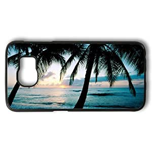Baseball Pattern Theme Samsung Galaxy S6 edge Case PC Material Black