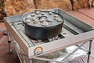 Dutch Oven Fire Table Bundle | Pop-Up Fire Pit + Frontier Grates | Portable Dutch Oven Table & Fire Pit |