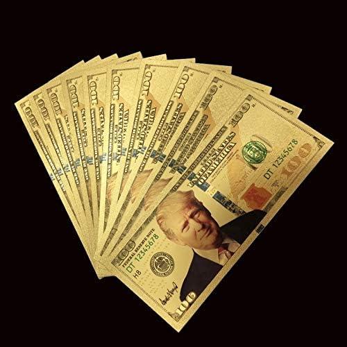 ZYZRYP 1PCSトランプドルゴールド紙幣セット24Kゴールドメッキ千USD紙幣金箔ビル記念ホームDecro紙幣 使いやすい