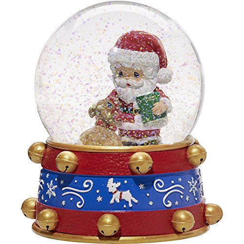 Precious Moments All Things Are Possible If You Believe Ninth in Annual Santa Series Resin/Glass Musical Snow Globe 171101