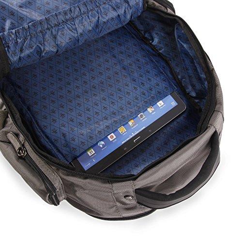 517s20mTajL - ORIGINAL PENGUIN Odell 9 Pocket Laptop/Tablet Backpack Briefcase, Charcoal, One Size