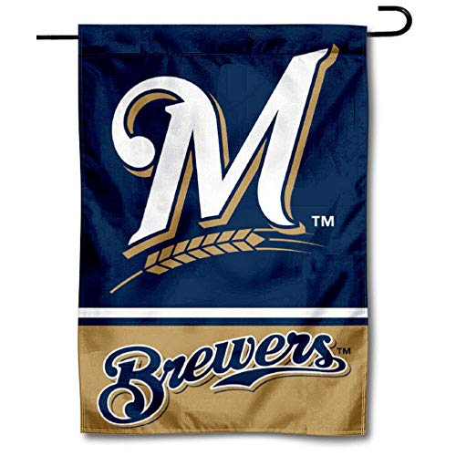 WinCraft Milwaukee Brewers Double Sided Garden