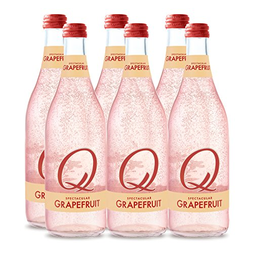 - Q Drinks, Q Grapefruit Spectacular Sparkling Grapefruit, Premium Mixer, 500 ml Glass Bottles (Case of 6)