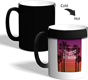 best vacation Printed Magic Coffee Mug, Black