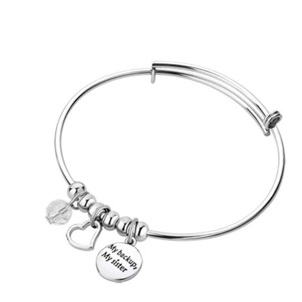 Cherris Love Soul Mate Big Sister Little Sister Bangle Cuff Bracelets Girl