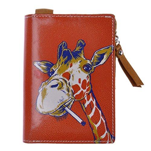 zlyc-vintage-style-print-leather-folded-zip-wallet-card-case-holder-money-purse-orange