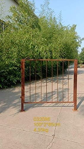 Zen Man 032086 - Valla de jardín de metal oxidado, valla de hierro forjado, valla de metal oxidado hecha a mano, longitud total 100 cm, altura 100 cm (85 + 15): Amazon.es: Jardín