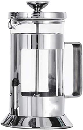 Olla de presión Francesa Filtro de Tetera Presión de la Mano Cafetera de Vidrio Cafetera en casa Cafetera: Amazon.es: Hogar