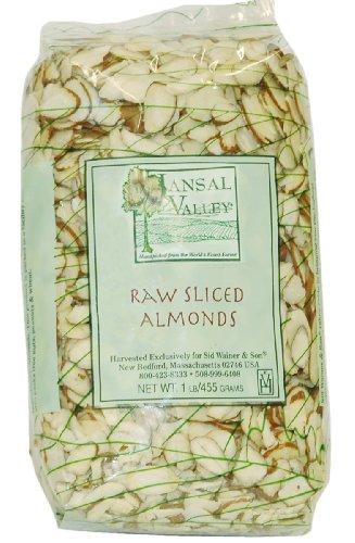 Jansal Долина сырье нарезанный миндаль, 1 фунт