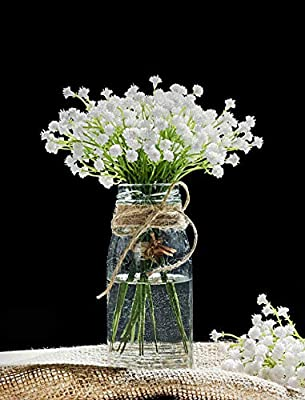 Luyue Baby Breath Artificial Plants,Fake Flowers Artificial Wedding Bouquets Floral Arrangements for Home Decor