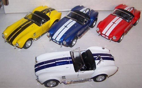 Kinsmart 1/32 Scale Diecast Pullback Action 1965 Shelby Cobra 427 S/c Set of 4 Colors Scale 1965 Shelby