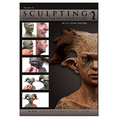 John Brown Sculpting Clay and Tools Kit for Creature Design with DVD Tutorial: ''Sculpting Expression and Fantasy Characters: Part I'' ''