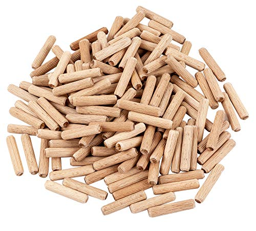 BICB Fluted Wood Dowel Pin, 10MM x 50MM- 50 Pieces