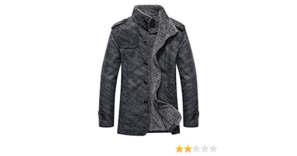 ef2f3409e942 XWDA PU Leather Jacket Men Thicken Fur Lined Coat Warm Stand Collar Outwear  with Buttons M-4XL: Amazon.ca: Clothing & Accessories
