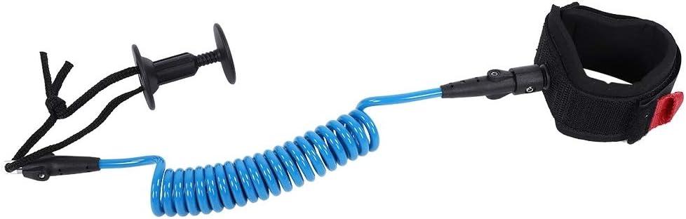 Color : Azul 5ft Correa de Surf Bodyboard Correa de mu/ñeca en Espiral Accesorios de Surf 5.5MM DEWIN Correa de la Tabla