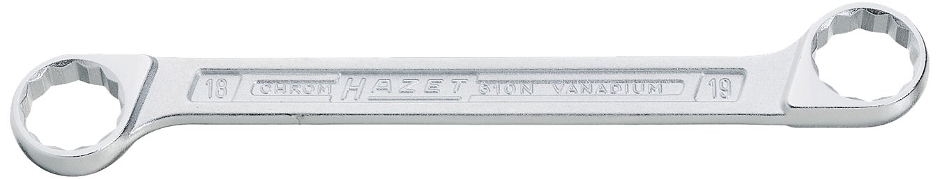 21 x 22 mm Hazet 630-21X22 Double Ring Wrench 21x22mm Silver