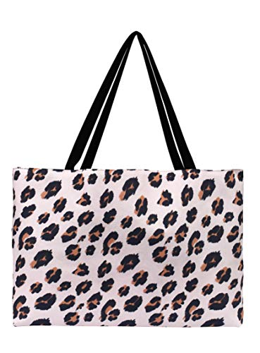 Everyday Tote by May Designs, Exclusive Patterns, Multi-Purpose Tote for Your Everyday Needs (Leopard Print)