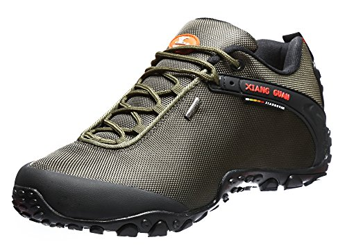 XIANG GUAN Men's Low-Top Outdoor Shoes Lacing Hiking Shoes 81283 Green 11