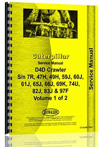 Service Manual Caterpillar D4D Crawler sn breaks - 1973 Caterpillar