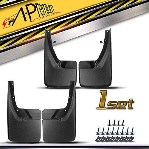 Dodge Mud Flaps - A-Premium Splash Guards Mud Flaps Mudflaps for Dodge Ram 1500 2500 3500 2009-2017 Without Factory Fender Flares Front and Rear 4-PC Set